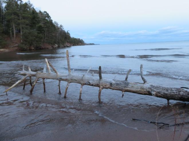 Lake Superior beach, November 2014