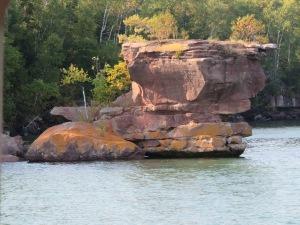 Apostle Island sandstone formation