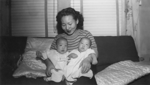 Lily Terao with twins Donald (my husband) and David