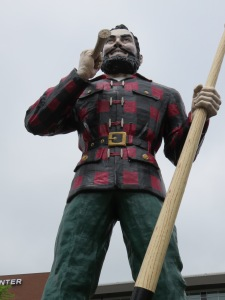 Paul Bunyan sighting at the Cross Center in Bangor, Maine