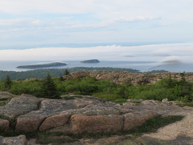 Bar Harbor sighting from Cadillac Mountain