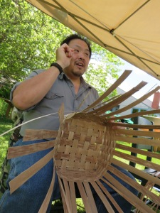 Mi'kmaq basket artist sighted at a Cultural Connections program